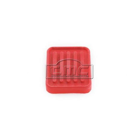 Goma de pedal cuadrado rojo