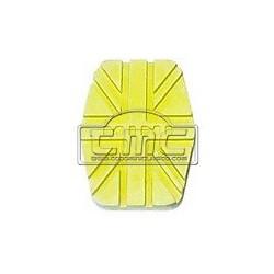 Goma pedal freno/embrague amarillo