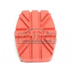 Goma pedal freno/embrague rojo