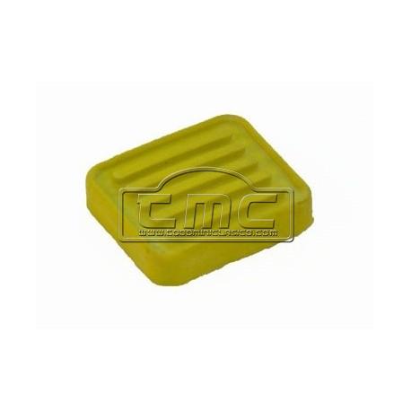 Goma de pedal cuadrado amarillo