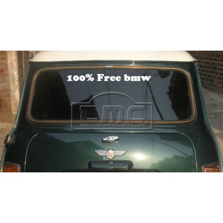 Vinilo 100% free bmw