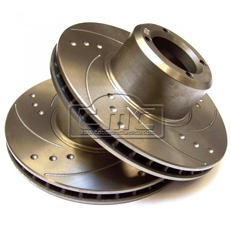 Disco de freno de 8.4 ventilado y semi rallado