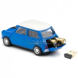Raton inalámbrico mini azul