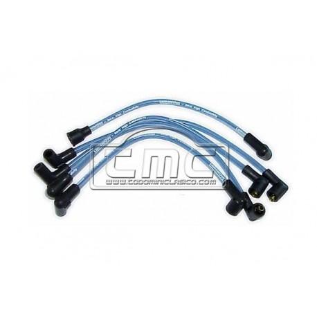 Cables bujía 8mm silicona azules