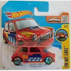 Morris mini rojo de hot wheels