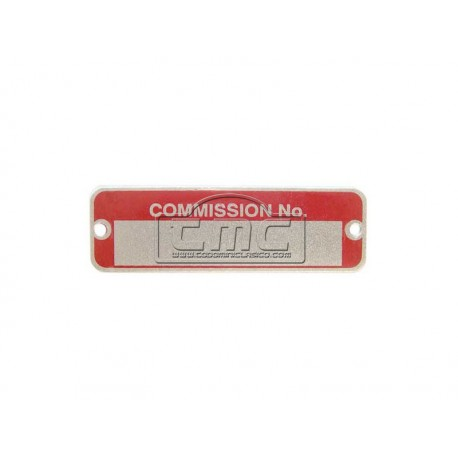 "Placa ""COMISSION NO"" mini post mk2"
