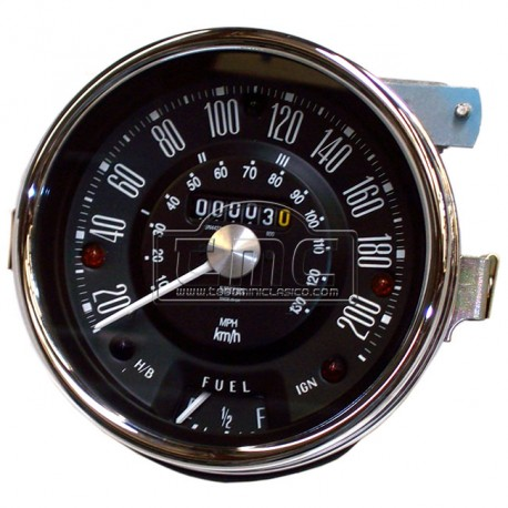 Reloj cuenta km 200km/h